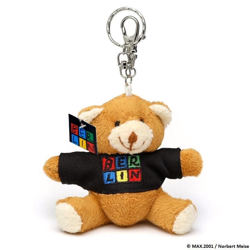 Schlüsselanhänger Berlin Plüschbär mit T-Shirt