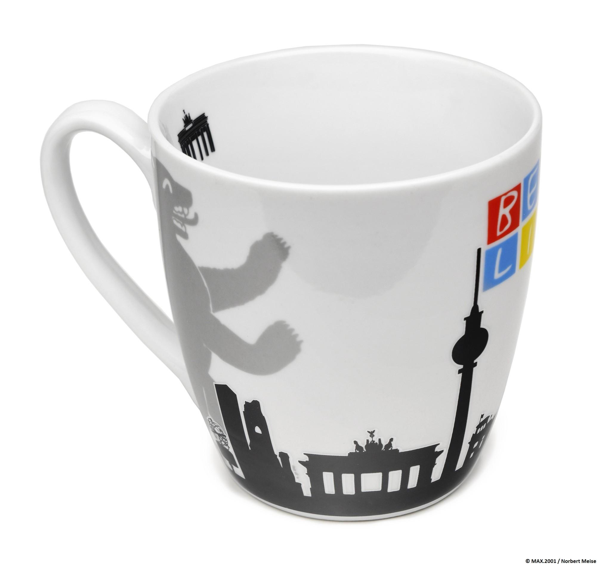 Tasse BERLIN Skyline Bär weiß