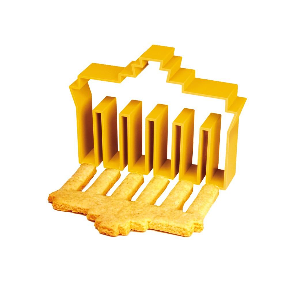 Ausstechform Brandenburger Tor gelb