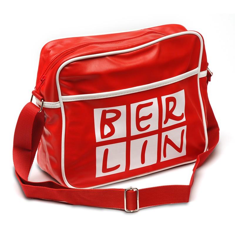 Retro Tasche BERLIN rot-weiß