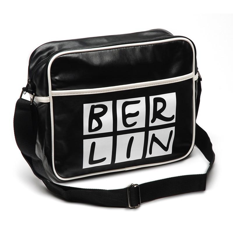 Retro-Tasche BERLIN schwarz-weiß