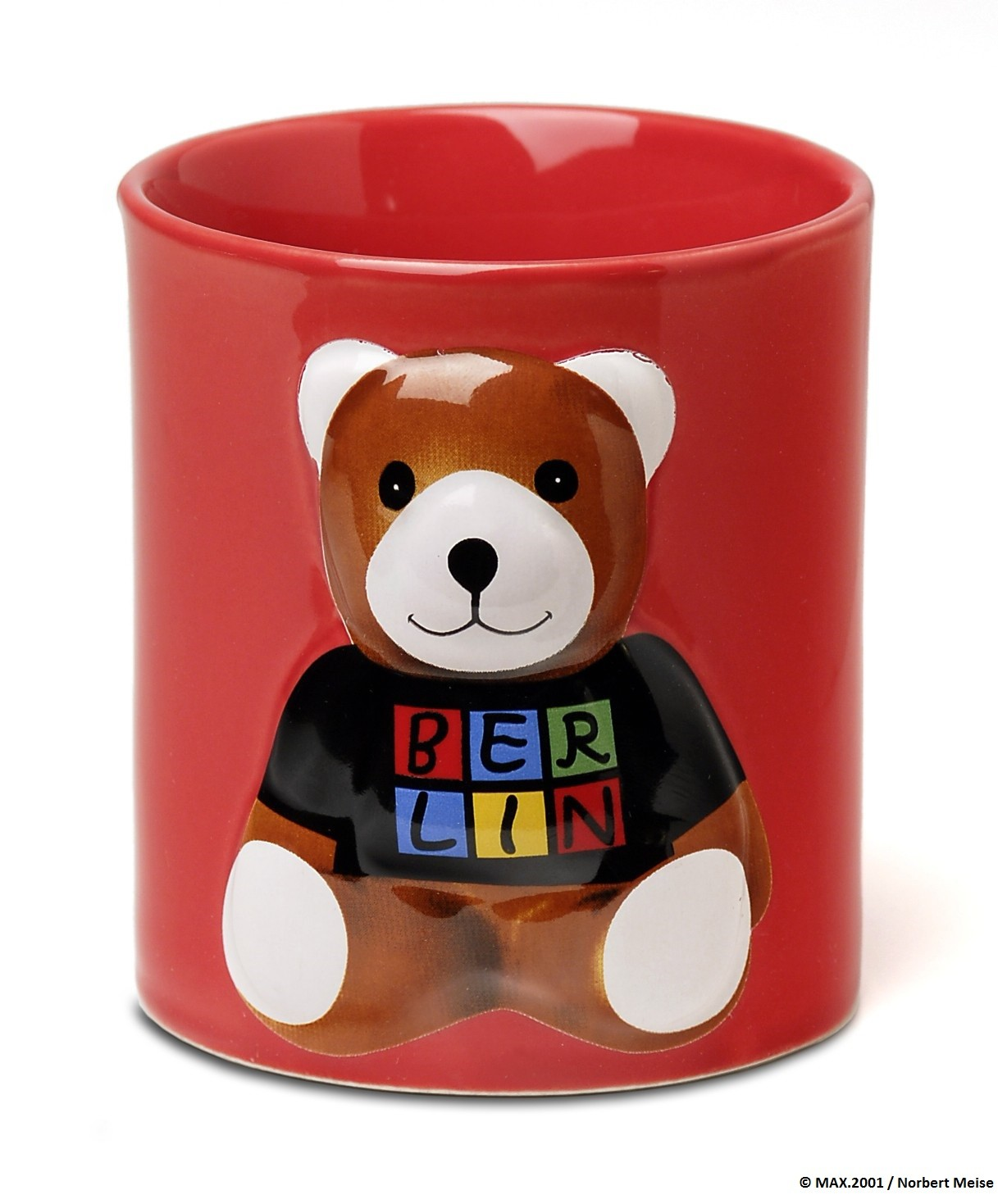 3D Cup Berlin bear , red