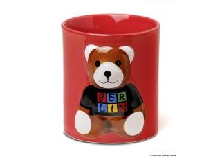 3D Cup Berlin bear , red
