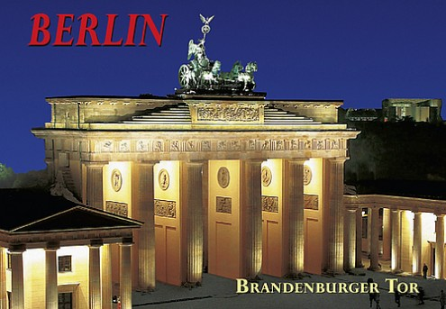 Magnet Brandenburg Gate at night